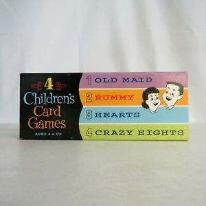 2002-THINKFUN-4-Children-039-s-Card-Games-30080-Multi-player-Age-4-and-up