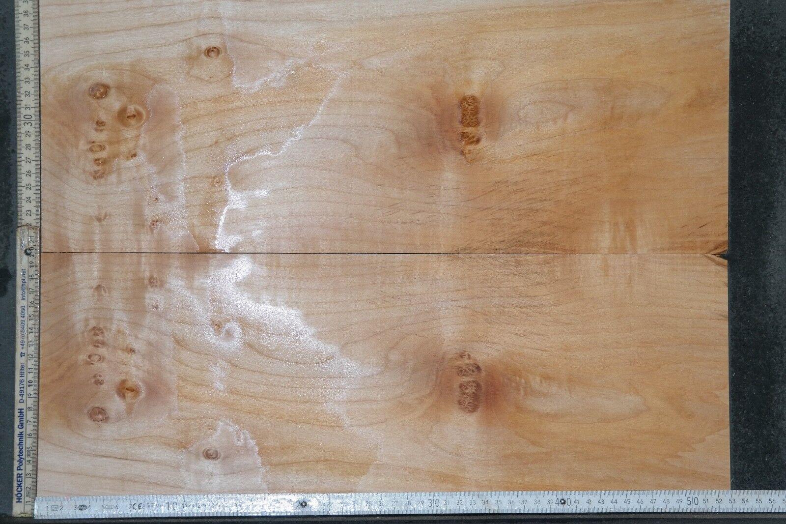 Tonewood Riegel maple Ahorn flamed Aufleimer 6,7 Guitar Tonholz Curly Topset 104