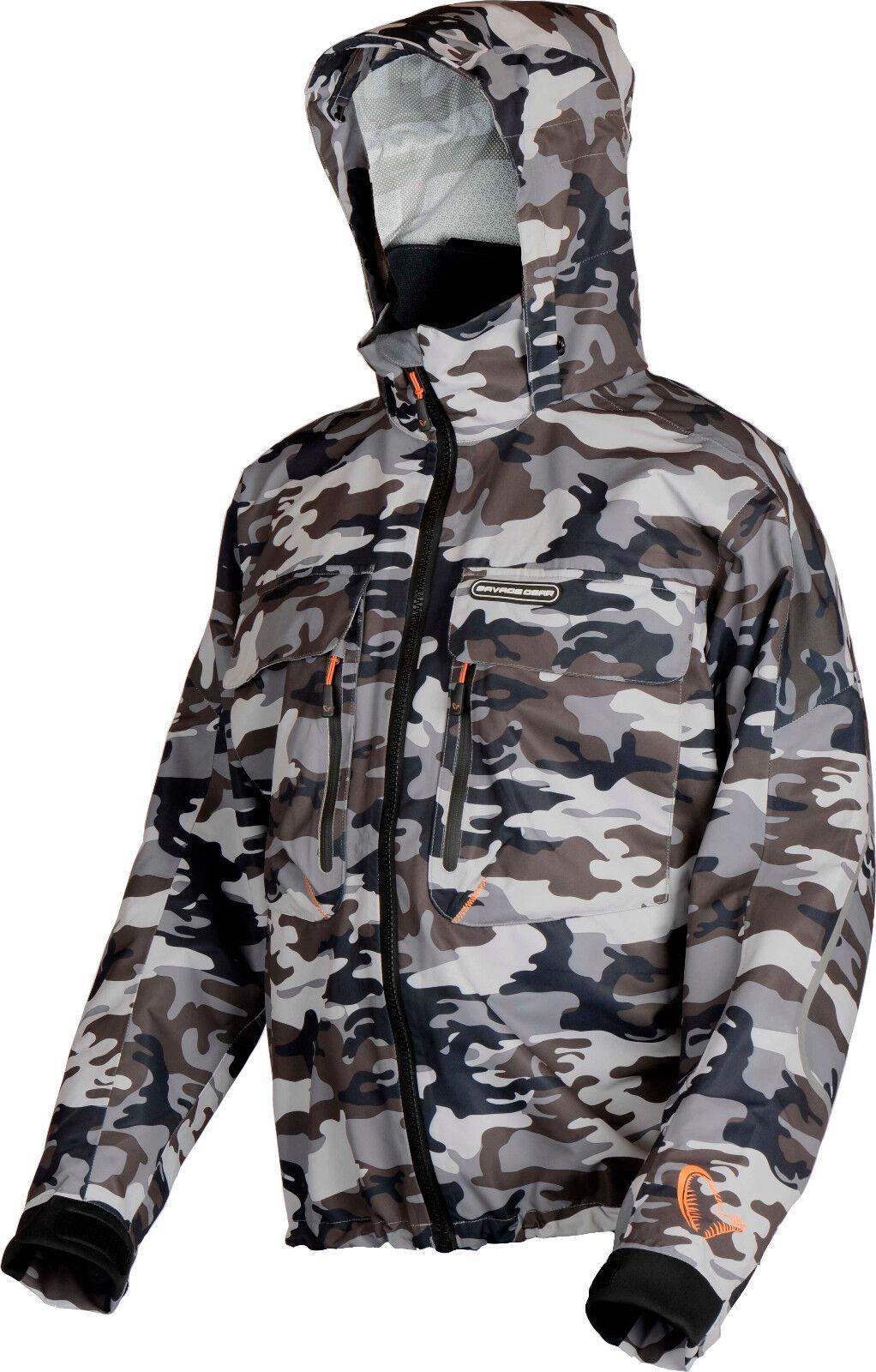 Savage Gear camo Jacket S-XXL 100% viento - & estancos chaqueta watjacke bota chaqueta
