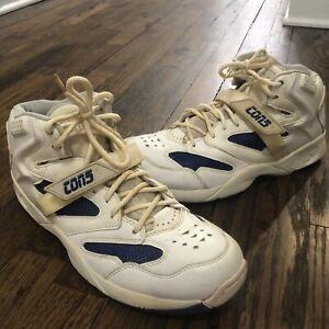 501b9900c71 Details about Men s Vintage Converse Cons Run N Slam Velcro Basketball  Shoes Sneakers Sz 10.5