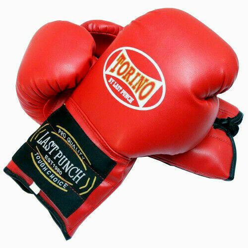 Boxing Gloves Faux Leather Sparring Training Punch Martial Arts Kick Boxing Red