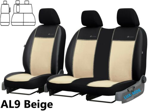 FORD TRANSIT CUSTOM 2014 2015 2016 ECO LEATHER /& ALICANTE TAILORED SEAT COVERS
