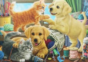 500-Pieces-Jigsaw-Puzzle-Cute-Cats-amp-Dogs-Brand-New-amp-Sealed