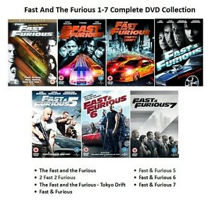 fast and the furious all 7 movie film dvd collection part 1 234 5 6 7 new sealed ebay. Black Bedroom Furniture Sets. Home Design Ideas