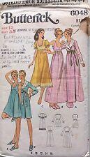 """VINTAGE 1970s Sewing Pattern Butterick 6048 Vestaglia & CAMICIA DA NOTTE b34"""" COMPLETO"""