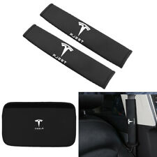 White PU Leather Seat Belt Harness Pads for Fiat 500 Set of 2