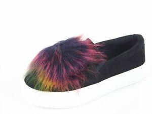 Steve-Madden-Great-Women-039-s-Slip-On-Sneaker-Black-Sz-5-5-M