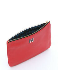Rebecca Minkoff Jody Pouch N Letter Large Clutch Scarlet Red LEATHER Zip Top New
