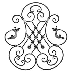 Rosette Pour Clôture Jardin Garde-corps Clôture Portail Porte 049 Ornement Forge Fer Drehtore-afficher Le Titre D'origine Ventes De L'Assurance Qualité