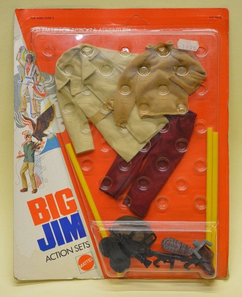 BIG JIM MATTEL ADVENTURE SET OUTFIT  9418 SECRET FILMER SEALED & CARDED 1975
