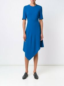 Image Is Loading Stella Mccartney Blue Handkerchief Hem Dress Celebrity