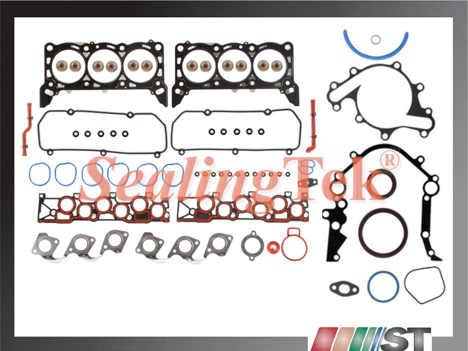 Fit 97-2000 Ford 4.0L OHV V6 Cylinder Head Gasket Set w// Bolts Vin Code X Engine