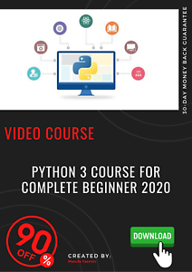 Python 3 Course For Complete Beginner 2020 Video Training Ebay