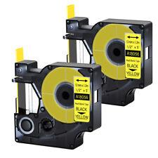 2pk For Dymo Rhino 42005200 Heat Shrink Tube 18056 Industry Label Tape 12x5