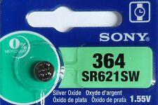 1 PILE SR621SW / SR621 / 364 / 1,55V SONY / ENVOI RAPIDE