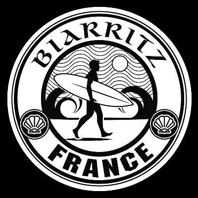 Generous Autocollant Biarritz Surf Pays Basque Cote Atlantique Ocean Pa12cm Auto Ba231nb Badges, Insignes, Mascottes Auto, Moto – Pièces, Accessoires