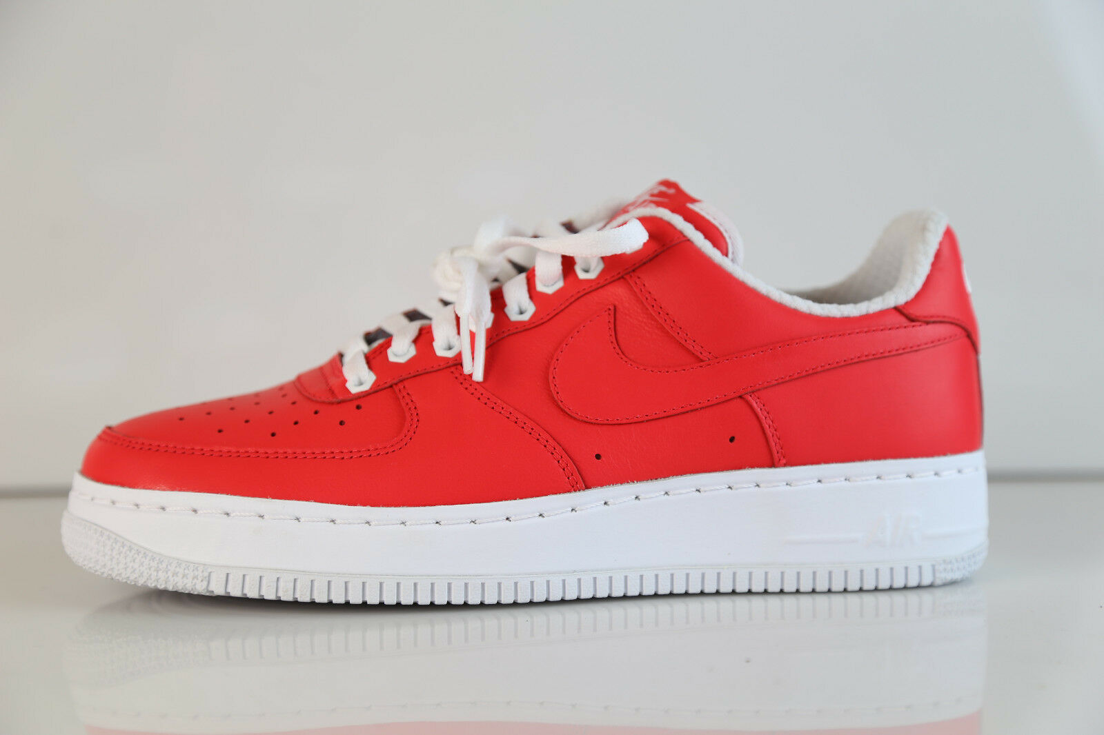 Nike iD Air Force 1 PRM Low Solar Pink Red Leather Sz 10 af1 premium Comfortable and good-looking