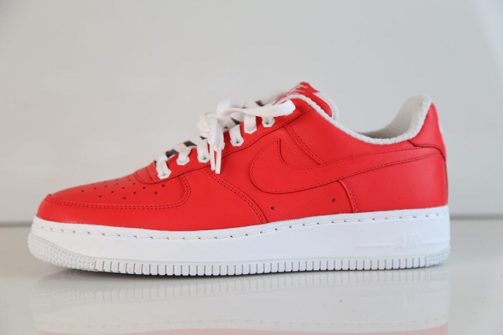 Nike air force 1 prm geringer solar - pink - rotes leder sz 10 af1 premium