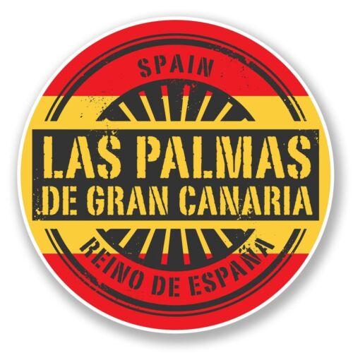 2 x Las Palmas Gran Canaria Vinyl Sticker Laptop Travel Luggage Car #6733