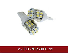 10x T10 20-SMD LED White Super Bright Car Lights Bulb - 194 168 2825 W5W