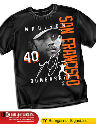 Madison Bumgarner T-shirt, MLBPA approved MLB727