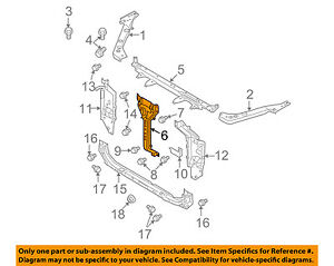 Image Is Loading Nissan Oem Rogue Radiator Core Support Center Hood