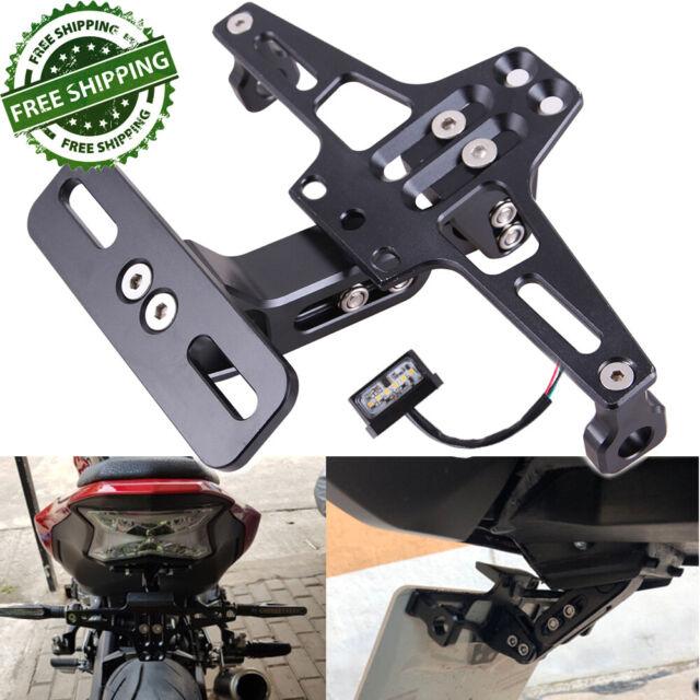 Universal Adjustable Motorcycle License Number Plate Holder Bracket Tail Light