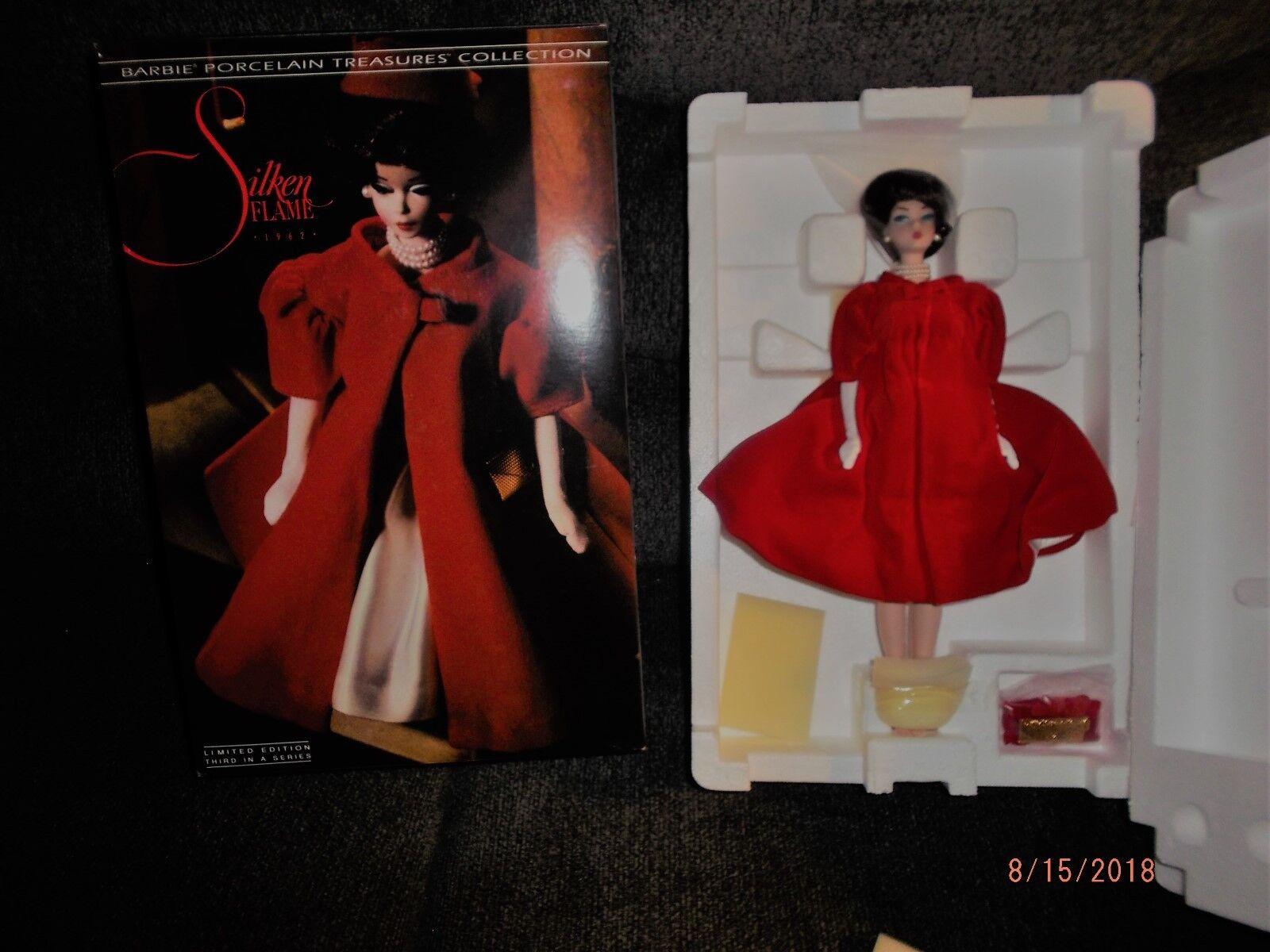 1992 Silken Flame Barbie Edición Limitada Porcelana nunca quitado de la caja