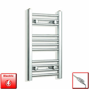 Chrome-600-x-350-mm-Electric-Heated-Towel-Rail-Radiator-Bathroom-Pre-Filled-HTR