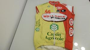 714a65df8 Wallonie Vermarc Sport Jersey Size XS-1-44 100% Polystere NOS. Funkier Men s  Firenze Short Sleeve Jersey White Small Bike