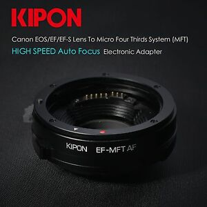 Kipon-Auto-Focus-AF-Canon-EOS-EF-lens-to-Micro-4-3-Adapter-MFT-mount-OM-D-GH4-G6