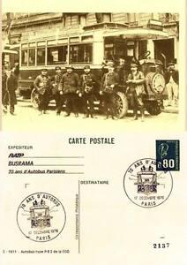 Carte-Postale-1911-Autobus-Type-PB-2-de-la-CGO