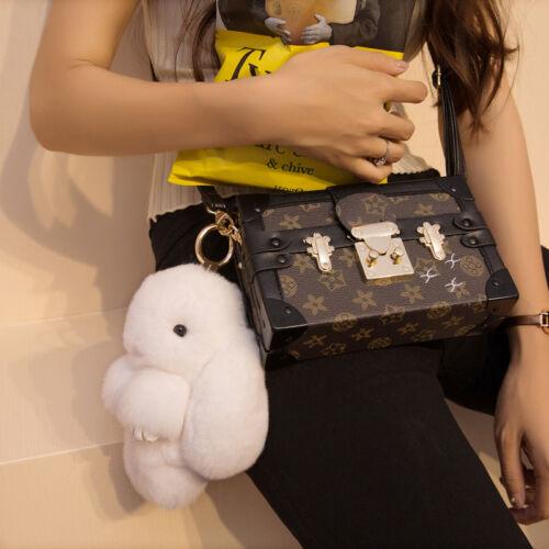 Real Whole Rex Rabbit Fur Pom Doll Phone Car Pendant Handbag Accessory Keychain