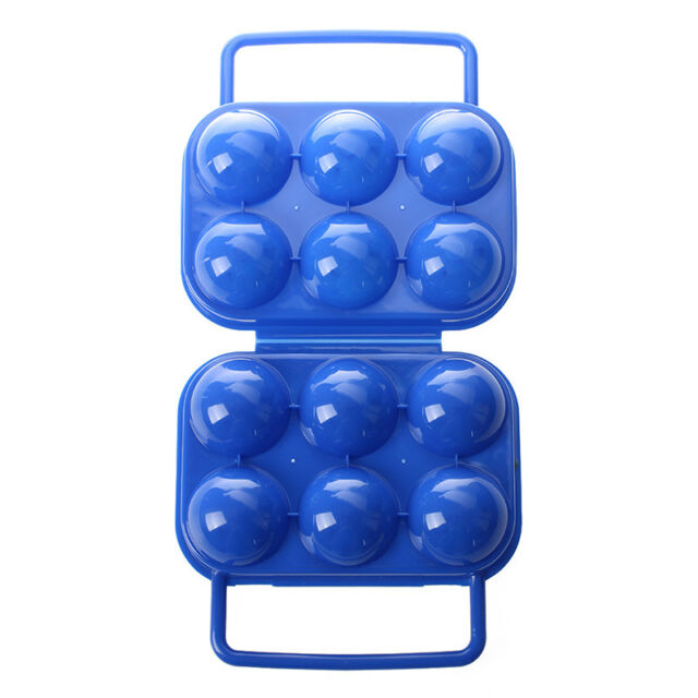 Portable Folding Plastic Egg Carrier Holder Storage Container for 6 Eggs - A6M9