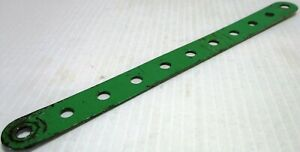 Meccano-2-Standard-Strip-11-Hole-Mid-Green-Original-Used-Few-Marks-1st