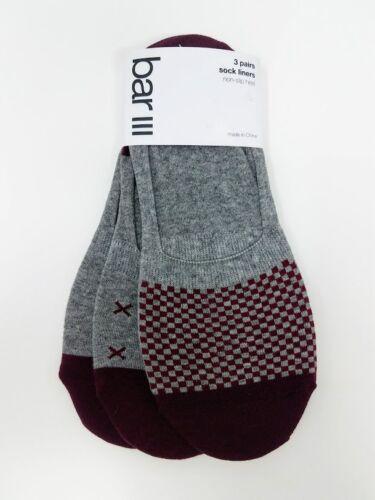 Bar III Men/'s No-Show Invisible 3 Pack Socks Multi-colors