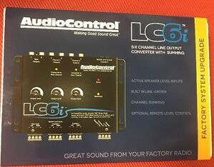 BLACK 6-Channel Line Output Converter With Internal Summing AudioControl LC6i