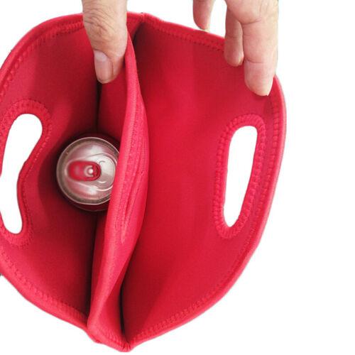 Carry 6 Bottles Drink//Wine//Beer Insulated Neoprene Bag Tote Carrier Cooler Case
