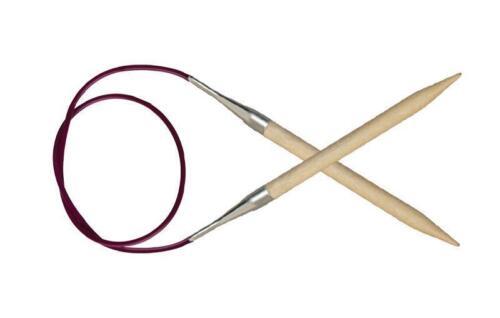 KnitPro Basix en bois de bouleau fixe Circulaire Aiguille à Tricoter 60 Cm /& 80 cm longueurs