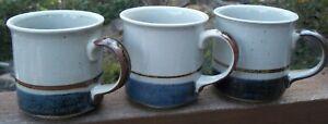 SET-OF-3-OTAGIRI-MARINER-Stoneware-Mugs-Cups-Japan-Excellent-Condition