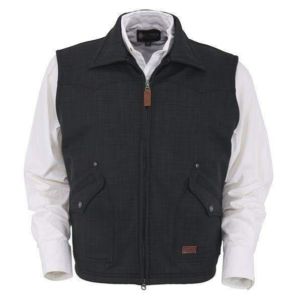 Mens Outback Trading Charcoal grau Theo Warm Softshell Fall Winter Ranch Vest