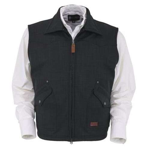 Mens Outback Trading Charcoal Grey Theo Warm Softshell Fall Winter Ranch Vest