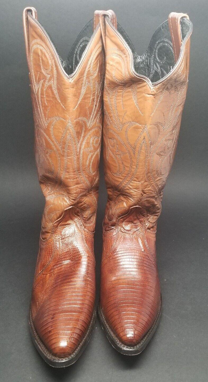 Dan Post Post Post Womens DP2451J Tan Teju Lizard Western Cowgirl Boots 6M Antique Tan 7d3b40