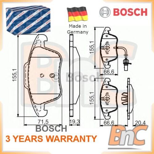 Freno de Disco Delantero Bosch Pad Set AUDI OEM 0986494538 8K0698151A