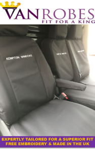Volkswagen Crafter 2017 on.Tailored Seat Covers Grey or Black Free Embroidery