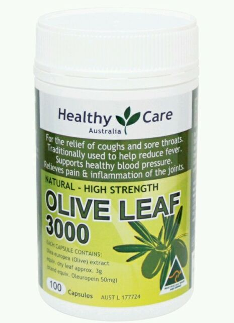Healthy Care Olive Leaf Extract 3000mg 100 Capsules for colds- OzHealthExperts