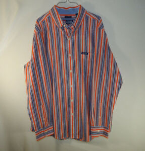 Ralph-Lauren-Chaps-Long-Sleeve-Mens-Casual-Dress-Shirt-Easy-Care-Size-LARGE-L