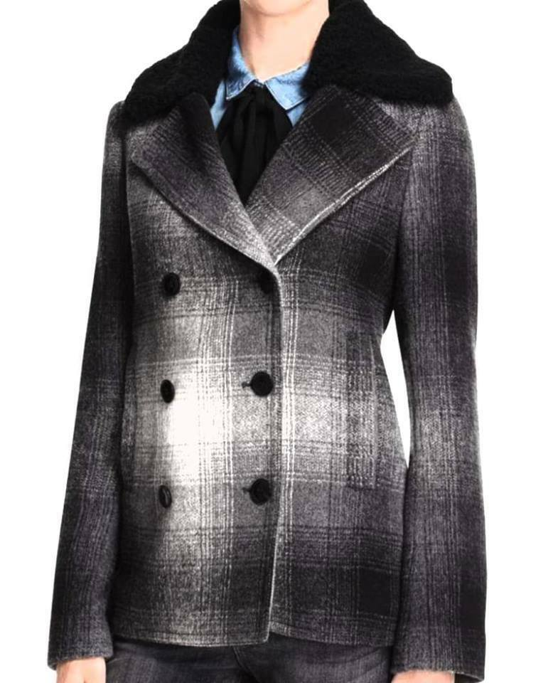 T BY ALEXANDER WANG  WOMEN  PEACOAT  100% REAL DYED  4 US OR PM   MSRP  ,00