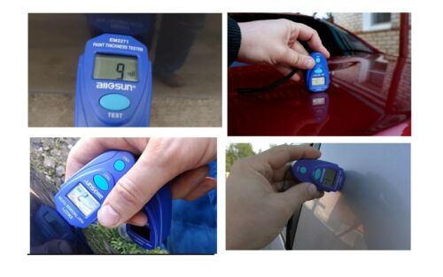 Digital Coating Thickness Gauge Non-magnetic Painting Tester Handheld LCD Screen