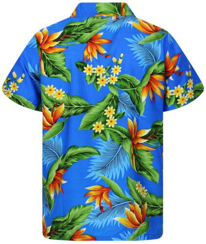 Funky Hawaii Camicia strelitzie blu chiaro